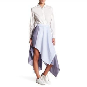 Opening ceremony asymmetrical stripe skirt